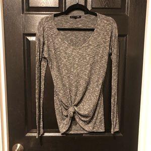 rag & bone open back knit shirt